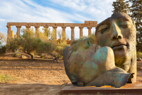 Valley of the Temples in Mitoraj Agrigento Sicily Italy