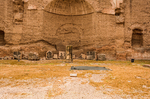 Ruins of the Baths of Caracalla (Terme di Caracalla) one of the most important baths of Rome in Rome Italy