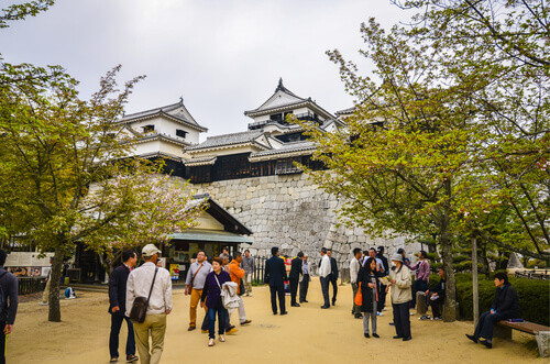 Matsuyama Castle is one of Japans twelve original castles in Matsuyama Japan