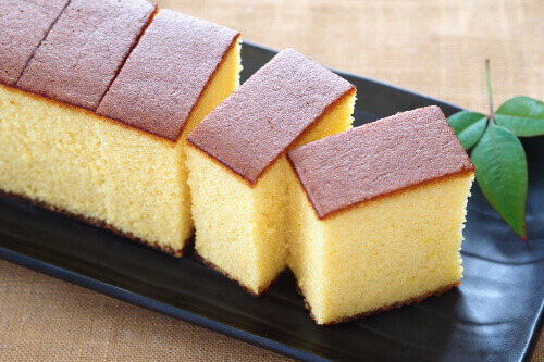 The famous Castella cake, this popular creamy and velvety Japanese sponge cake is a popular tourist souvenir in Japan
