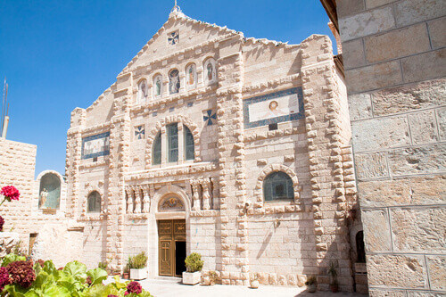 Saint John the Baptist church in Madaba Jordan
