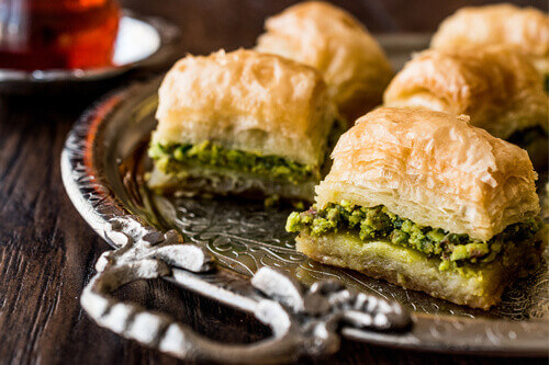 Baklava is one of Jordans famous sweet pastry