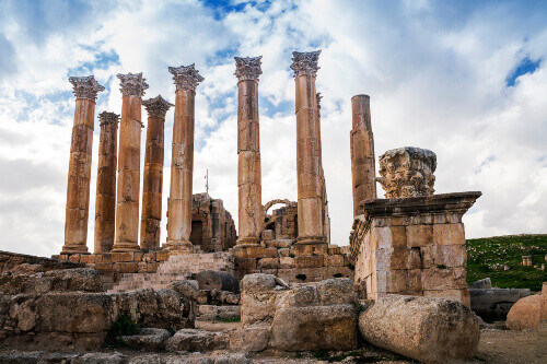 The Artemis Temple at the ancient city of Jerash.