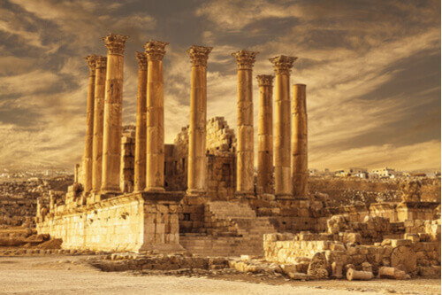Temple of Artemis in Jerash Jordan