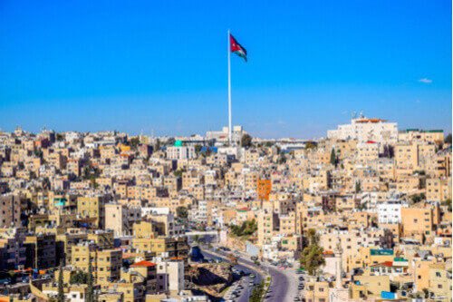Downtown Amman aerial view Jordan