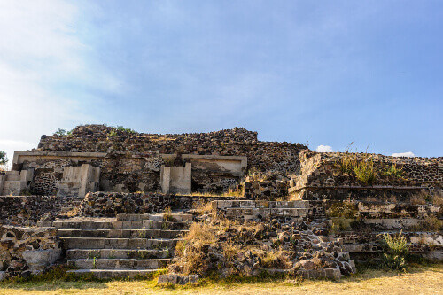 Ruins of pre hispanic city of Teotihuacan in Mexico