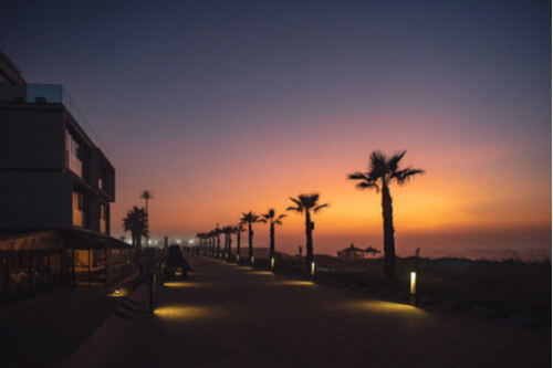 Casablanca Beach at Night