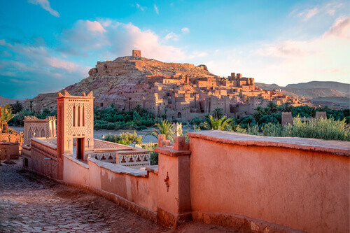 Kasbah Ait Ben Haddou near Ouarzazate in the Atlas Mountains of Morocco