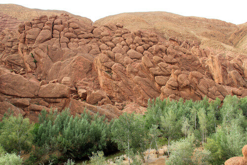 Tamlalt Valley Monkey Fingers in Dades Valley in Morocco