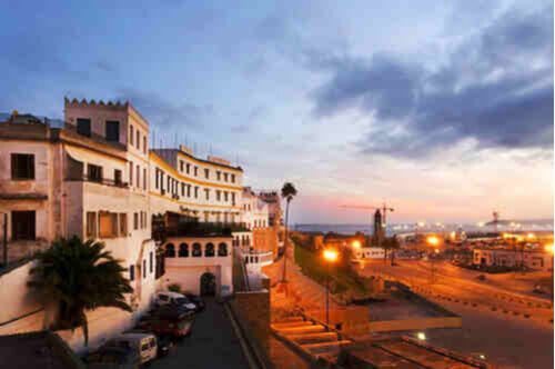 Tangier city and port in Tangier Morocco