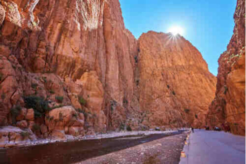 Beautiful Todgha Gorge landscape near Tinerhir Morocco