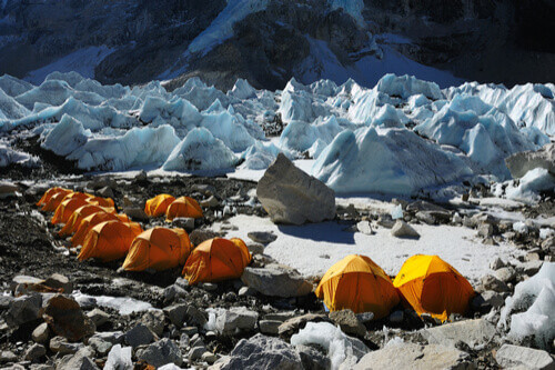 tents at everest base camp nepal