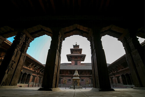 Mul Chowk, the largest and oldest of the Royal Palace's three main chowk (squares) at Patan Durbar Sqare in Patan Nepal