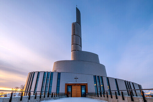 The Northern Lights Cathedral in Alta Norway