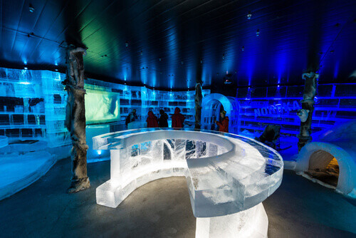 The Artico Ice Bar in Honningsvag Norway