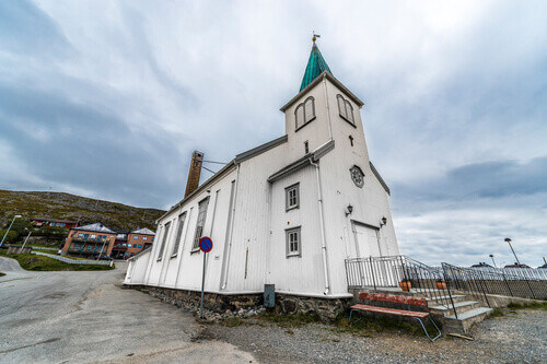 Honningsvag Church in Honningsvag Norway