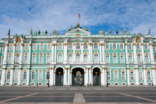 Winter Palace (The Hermitage) in St. Petersburg Russia