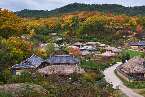 Yangdong Folk Village in Gyeongju South Korea