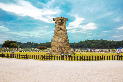 Cheomseongdae Observatory is the oldest star observation tower in Asia and is located in Gyeongju South Korea
