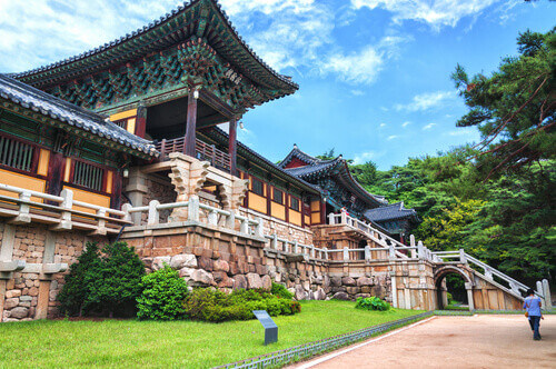Bulguksa Temple is one of the most famous Buddhist temples in all of South Korea and a UNESCO World Heritage