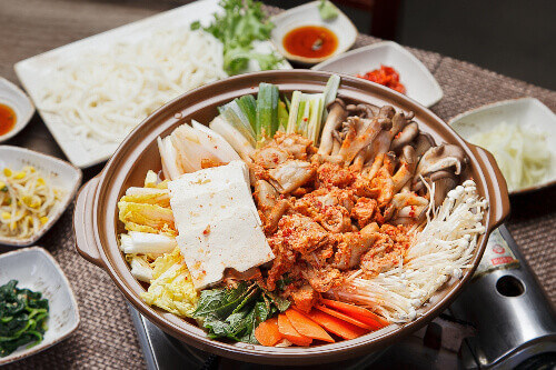 Gopchang Jeongol is a Korean traditional stew with beef tripe