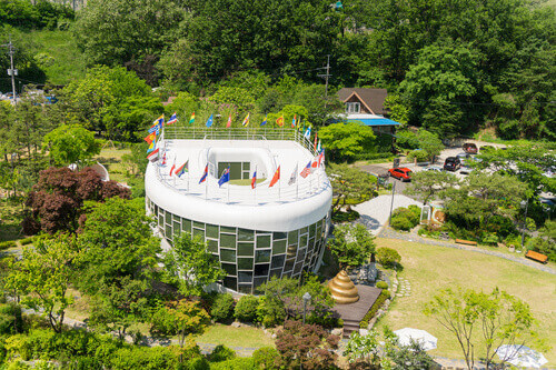 The View on top of Toilet Culture Museum that is Mr. Toilet House at Suwon City in Suwon South Korea