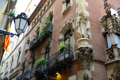 Els Quatre Gats or The Four Cats on the ground floor of Casa Martí in Barcelona Catalonia Spain