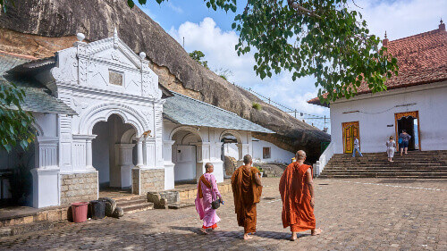 Dambulla caves is one of the most visited by tourists and pilgrims located in Dambulla Sri Lanka