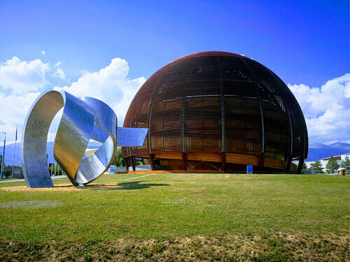 The Globe of Science and Innovation is a visitor center in Geneva Switzerland