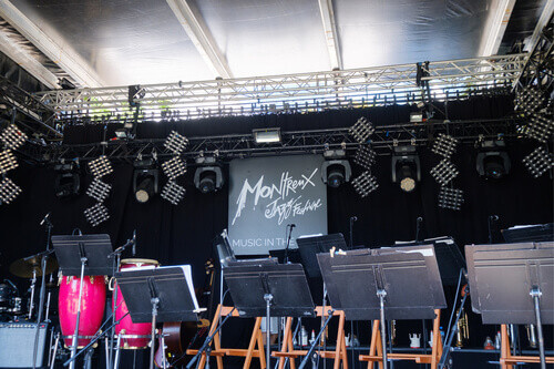 Empty stage at Montreux Jazz festival in Montreux Switzerland
