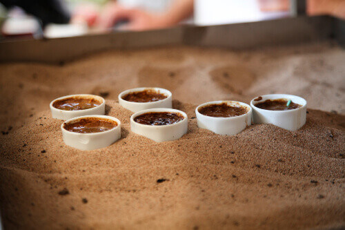 Turkish Coffee cooked in hot sand