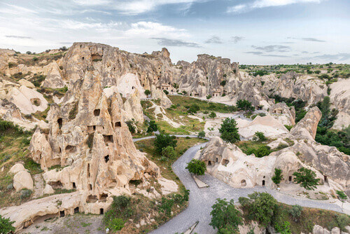 Goreme open air museum in Cappadocia Turkey