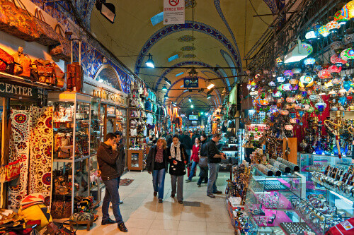 The Istanbul Grand Bazaar is considered to be the oldest shopping mall in history