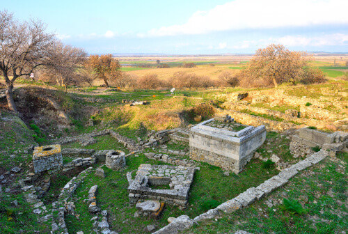 Troy ruins a UNESCO World Heritage site in Anatolia Turkey