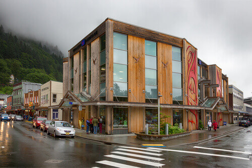 The Sealaska Heritage Store located in the downtown of Juneau in Alaska