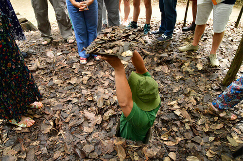 The Cu Chi Vietcong tunnels in Vietnam