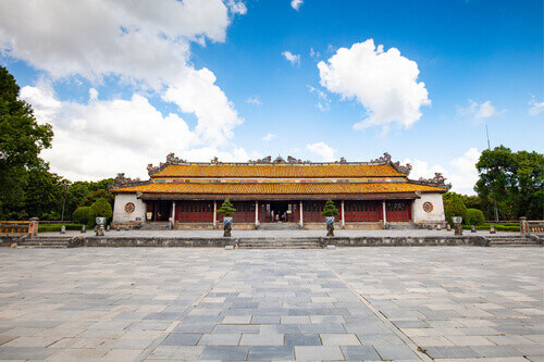Thai Hoa Palace in the UNESCO World Heritage site of Imperial Palace and Citadel in Hue Vietnam