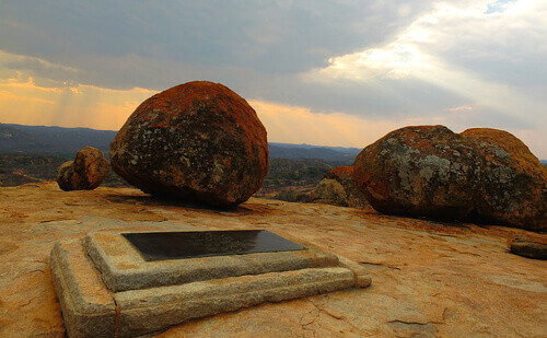 Cecil J. Rhodes grave in Matobo (Matopos) National Park in Zimbabwe