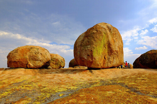 Famous rock formations (Balancing Rocks) in Matobo (Matopos) National Park in Zimbabwe