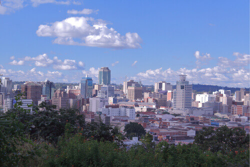 Harare city the capital of Zimbabwe