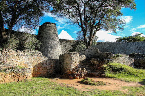 Great Zimbabwe is a medieval city in the south-eastern hills of Zimbabwe