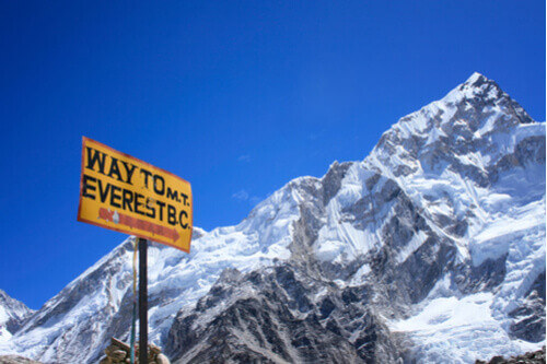 Nepal Everest in sight