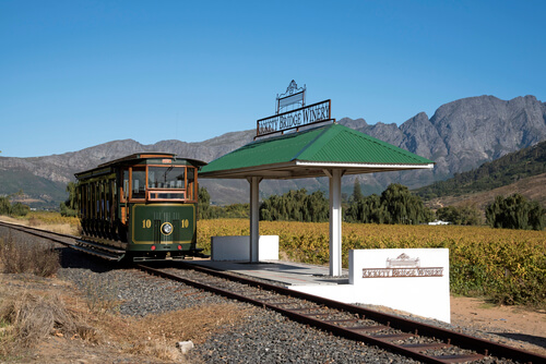 Tourist train Franschhoek, Cape Town