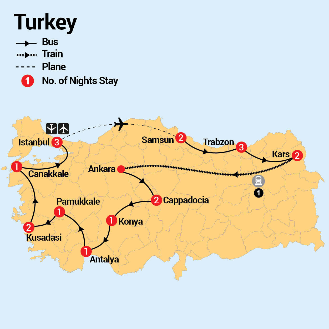21 Day Grand Turkey - Inspiring Vacations India Map Before And After Parion on