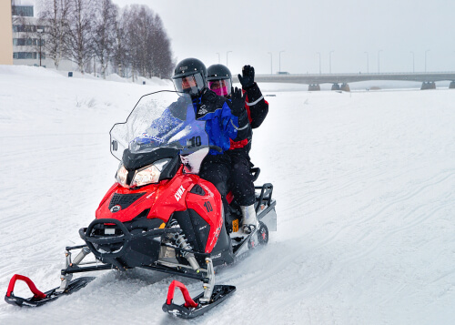 Snow mobile in Lapland