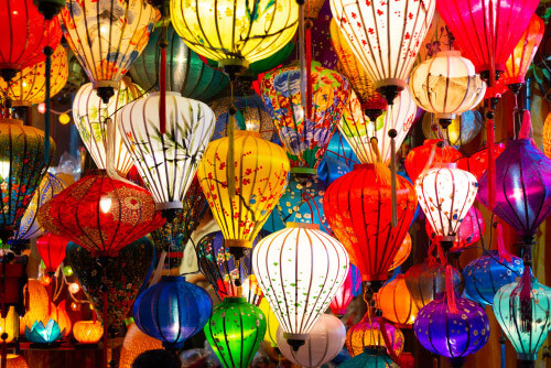 hoi an lanterns for sale vietnam
