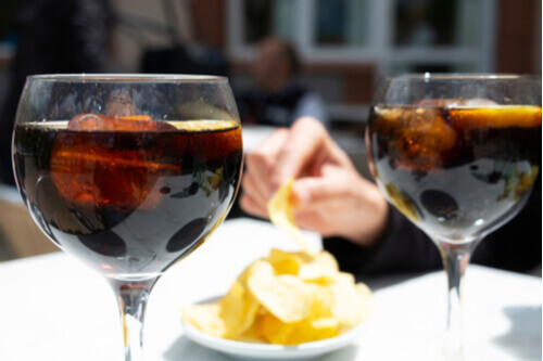 Vermut with tapas in Spain