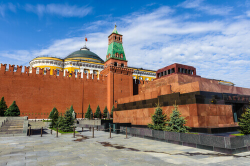 Lenin's Mausoleum Moscow Russia