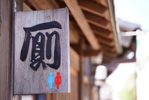 A toilet sign in Japan.
