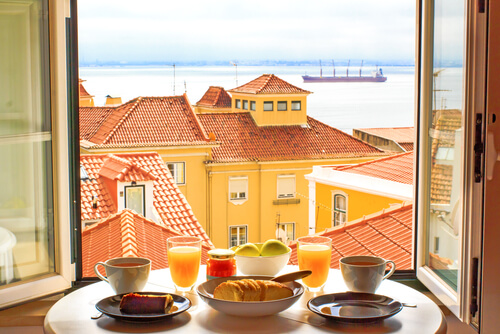 Breakfast with a view Lisbon Portugal